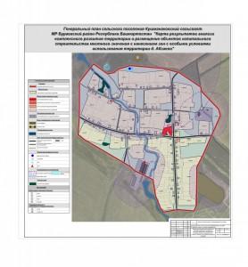 Карта результатов анализа Абзаево